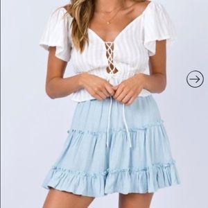 Baby Blue Mini Skirt